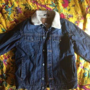 Lined Boys Denim Jacket Coat